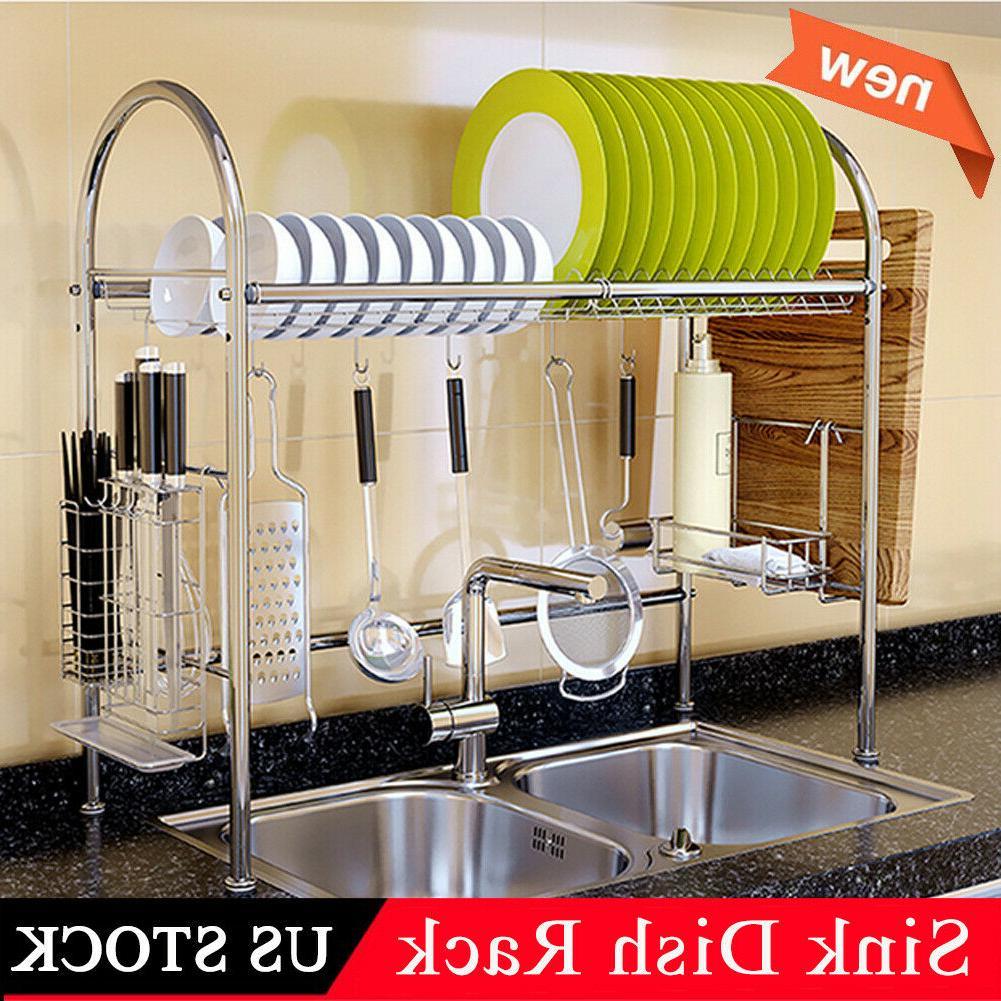 3 Sink Dish Rack Shelf Kitchen Cutlery Holder