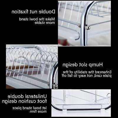 3 Dish Kitchen Storage Drainer Kit