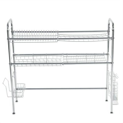 3 Stainless Steel Over Rack Shelf Cutlery Holder