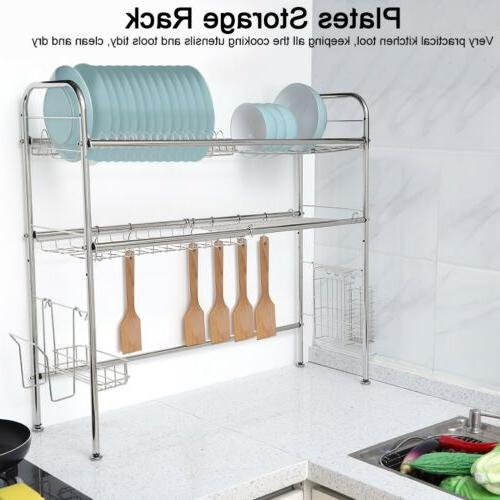 3 Stainless Steel Over Sink Rack Shelf Kitchen Cutlery Holder