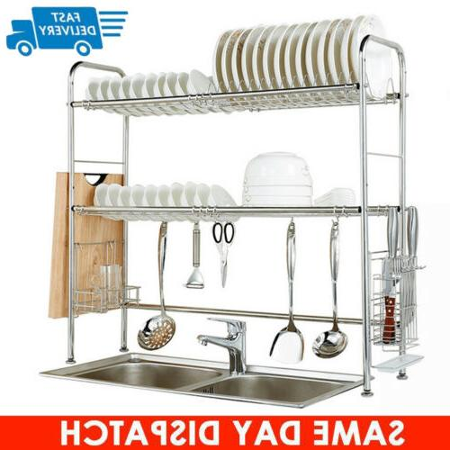 3 tier stainless steel over sink dish