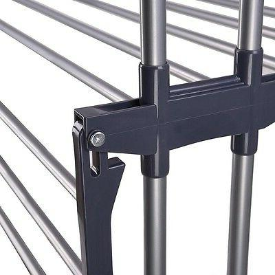 3 Steel Clothes Drying Rack Dryer Airer Storage