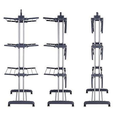 3 Steel Drying Rack Folding Dryer Airer Storage