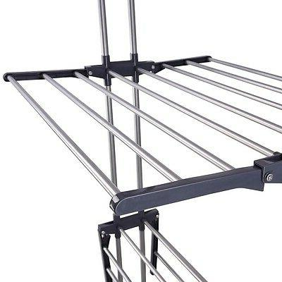3 Tier Steel Drying Rack Folding Dryer Airer Storage