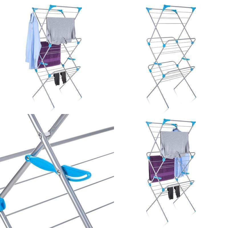 3 tier trio concertina indoor drying rack
