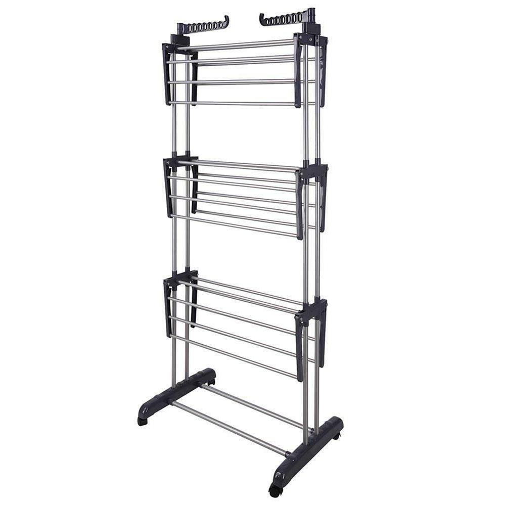 3Layer Clothes Airer Laundry Rack