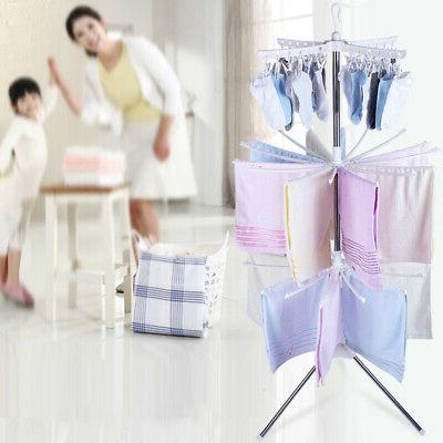 3 Tiers Folding Rack Clothes Dryer Hanger Stand