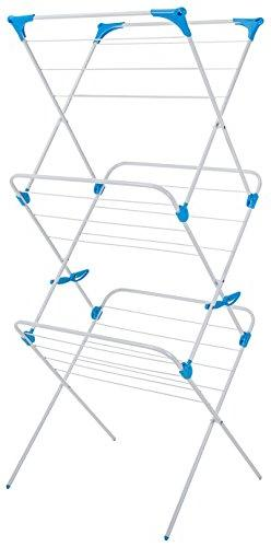 Minky Trio Concertina Drying Rack, 49', White