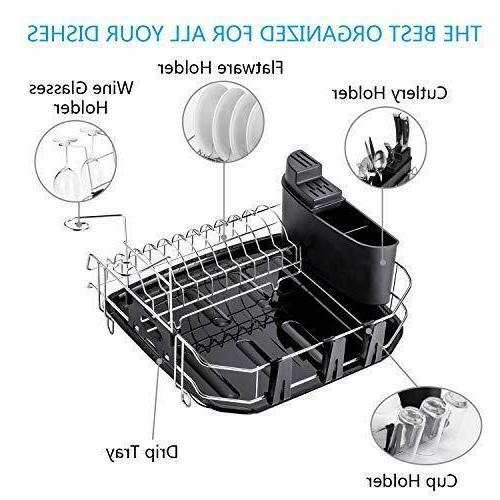 304 Stainless Drying Rack Set with Drainboard/Cutlery