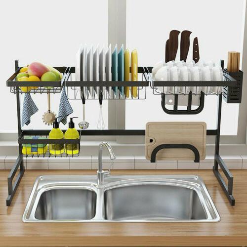 85cm Dish Rack Drainer Kitchen Holder Shelf