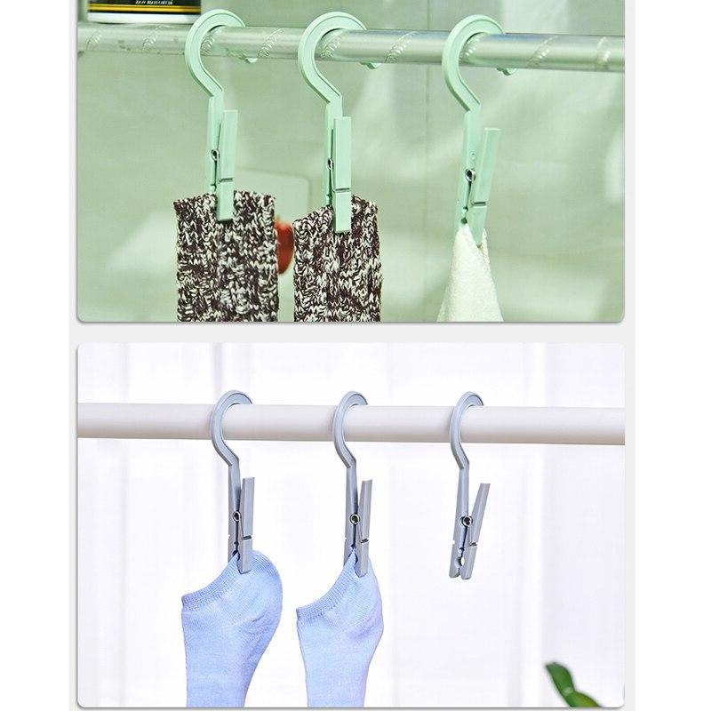 3pcs/set <font><b>Plastic</b></font> Clothes Pegs Travel Hanging Clothes Pin Clothespins Socks Storage