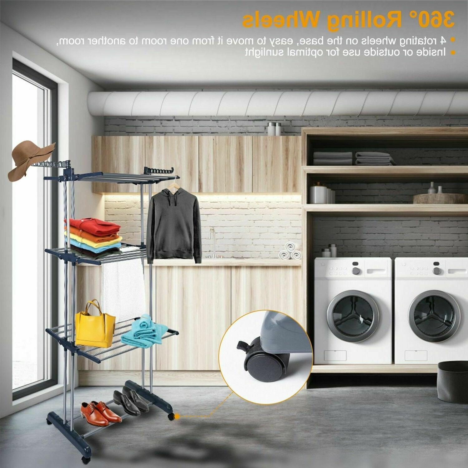 3Tier Stainless Folding Dryer Hanger Stand