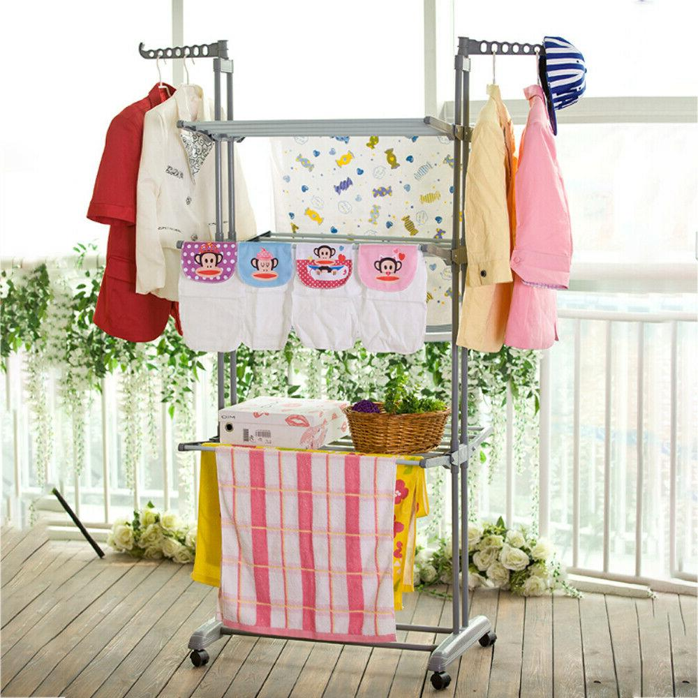 3Tier Stainless Drying Laundry Dryer Hanger