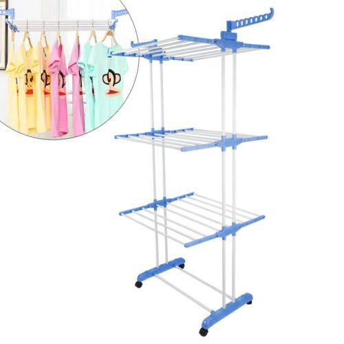 3tier stainless laundry organizer folding drying rack