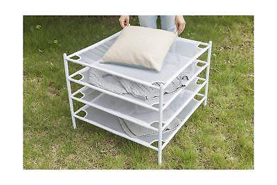 STORAGE MANIAC 4-Layer Drying Rack Stackable Clothes Dry Net