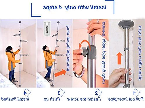 Baoyouni Laundry Drying Hanger Organizer to Ceiling Metal Tension