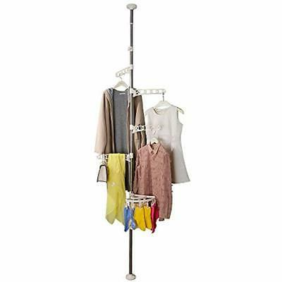 4 tier standing clothes laundry drying rack