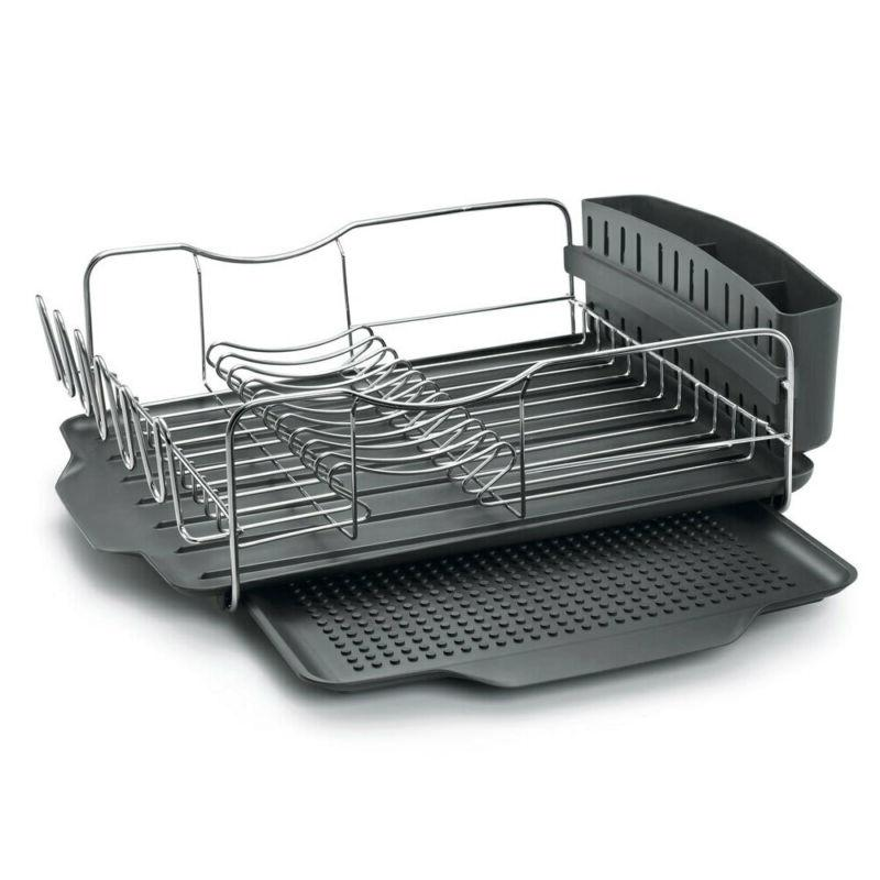 4pc Dish/Cup/Plates Drying Rack/Holder w/Tray