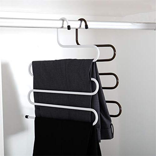 5 Tiers Hanging Drying Rack Clothes Holder for Wardrobe Save