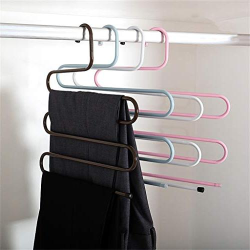 5 Hanging Rack Clothes Steel Holder Laundry Holder for Save