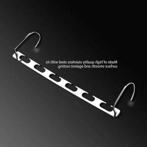 6 Stainless Steel Folding Clothes Rack Hook