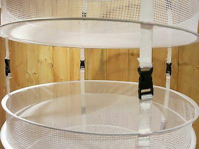 "6 Dry w Levels ~ Herb Drying Rack 4 ft ~ 22"" diameter"
