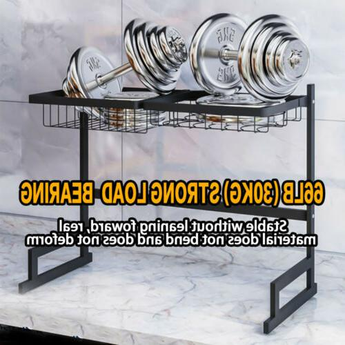 65/85CM Rack Over Drainer w/ Cup Holder Stainless Steel
