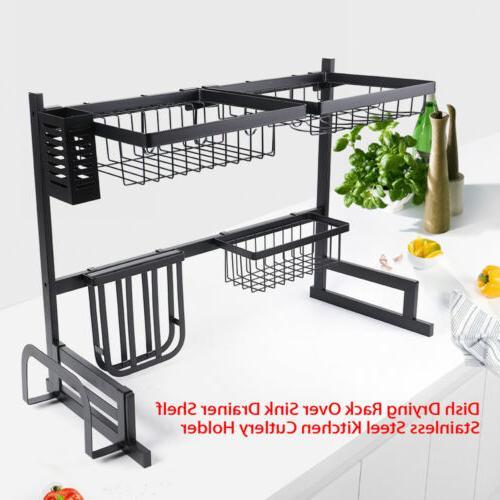 Stainless Steel Kitchen Shelf Rack Drying Drain Storage Hold