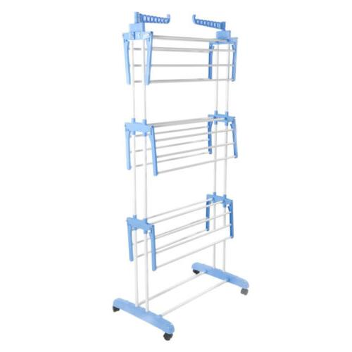 """71"""" Folding Clothes Laundry Drying Rack In/Outdoor Storage"""
