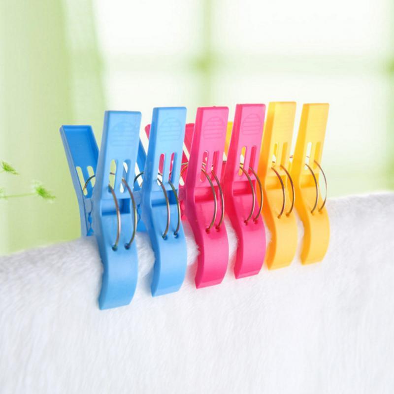 8pcs <font><b>Plastic</b></font> Color Pegs Beach Laundry Size Clip Organization
