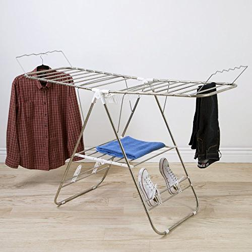 Heavy Duty Rack- Steel Clothing Shelf Indoor Outdoor for Shoes by
