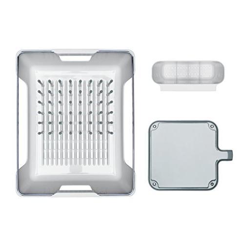 OXO Good Grips Large Peg Dish Adjustable Tray