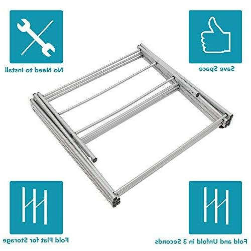 STORAGE Anti-Rust Compact Clothes Drying Rack