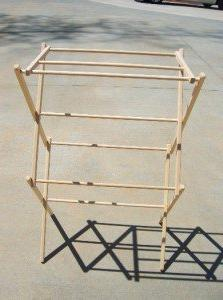 Wood 31 Inch Clothes Drying Rack Foldable Portable Laundry D