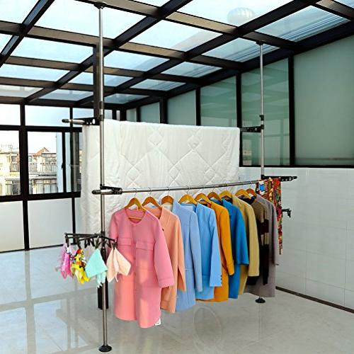 BAOYOUNI Adjustable Hanger Free Save with Clips Clothespins