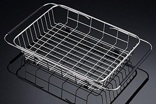 Adjustable Large Rack, Stainless Drainer Organizer for Drying and Silverware- Rustproof