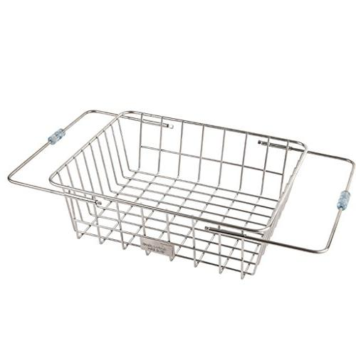 Adjustable Over The Sink Kitchen Drainer Roll-Up Dish