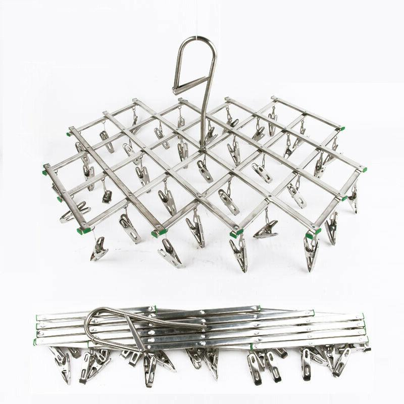 AideTek Stainless Laundry Clothesline Hanging Rack for Dryin