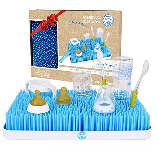 baby bottle drying rack blue