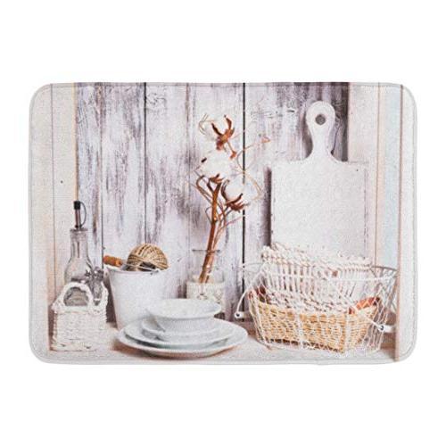 bath mat board white interior