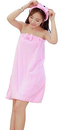 Mingming Bow woman towel bathrobe bathrobe body spa bath tow
