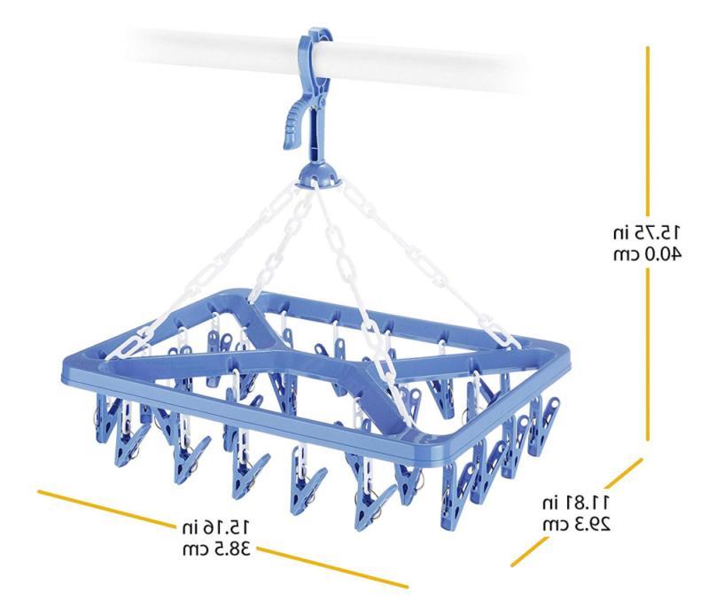 Whitmor Clip Drip Hanger Hanging Rack 26