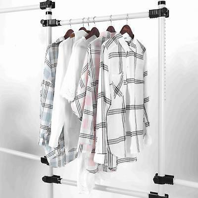 Closet Storage Organizer Garment Rack Clothes Dry 4 Bars