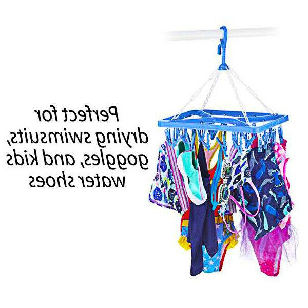 Clothes Clip Hanger Portable Organizer Storage Folding