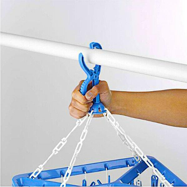 Clothes Clip Hanger Portable Laundry Organizer Folding Drying