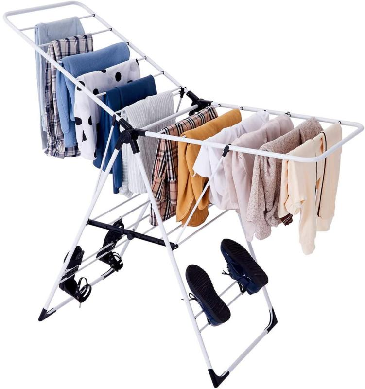 Tangkula Clothes Drying Rack, Collapsible Laundry Rack With