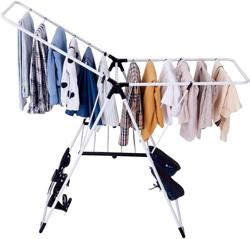 Tangkula Collapsible Rack Hanging H