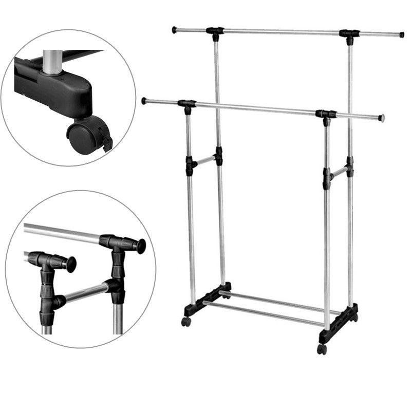 clothes drying rack double adjustable portable hanger