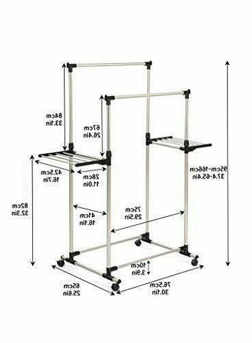 Clothes Drying Rack Foldable Wings Stainless Dry