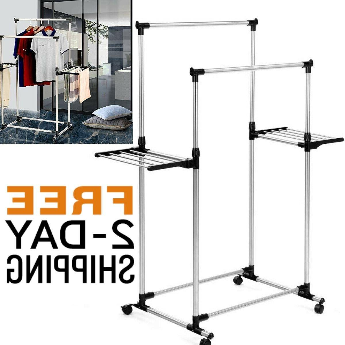 clothes drying rack foldable wings stainless steel